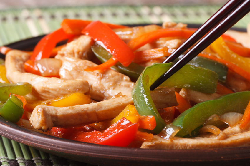 slow cooker chicken and peppers