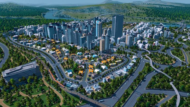 A sprawling urban landscape.
