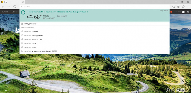 Microsoft Project Spartan Windows 10 Technical Preview