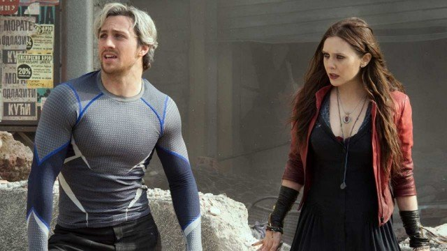 Aaron Taylor-Johnson and Elizabeth Olsen in Avengers: Age of Ultron | Source: Marvel