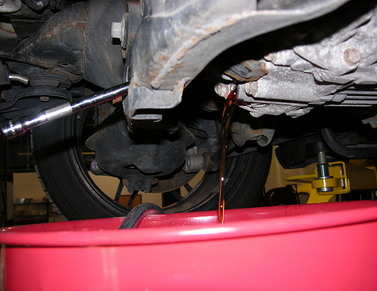 Rear differential flush