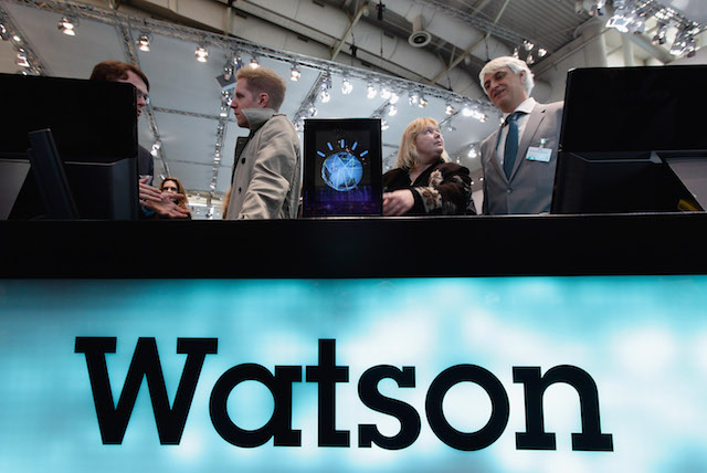Source: Sean Gallup/Getty Images. Visitors view IBM Watson supercomputer in 2011 in Hanover, Germany.