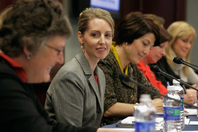 Duke Energy South Carolina President Catherine Heigel (2nd L) participates in a Women's CEO panel - Chip Somodevilla/Getty Images