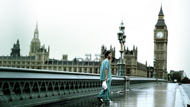 Jim (Cillian Murphy) wanders through an abandoned London in a scene from '28 Days Lter'