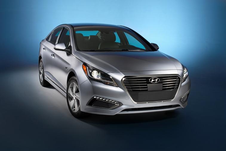 2016 Hyundai Sonata Plug-in Hybrid Electric Vehicle (PHEV), Front Exterior