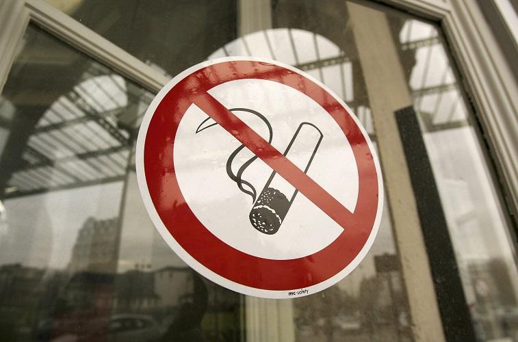 A no-smoking sign
