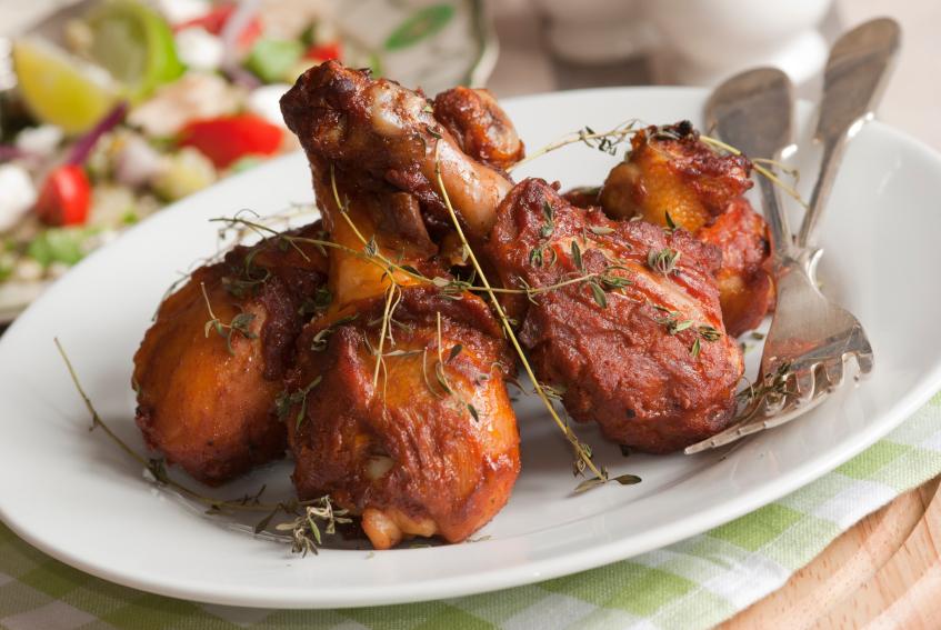 barbecue chicken drumsticks