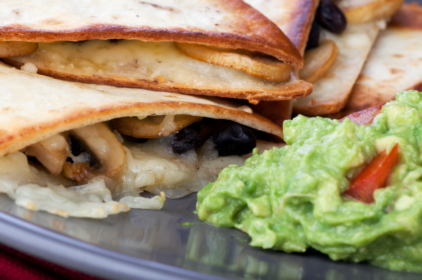 Quesadillas are popular Mexican restaurant appetizers