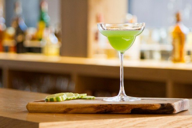 Margarita on a bar