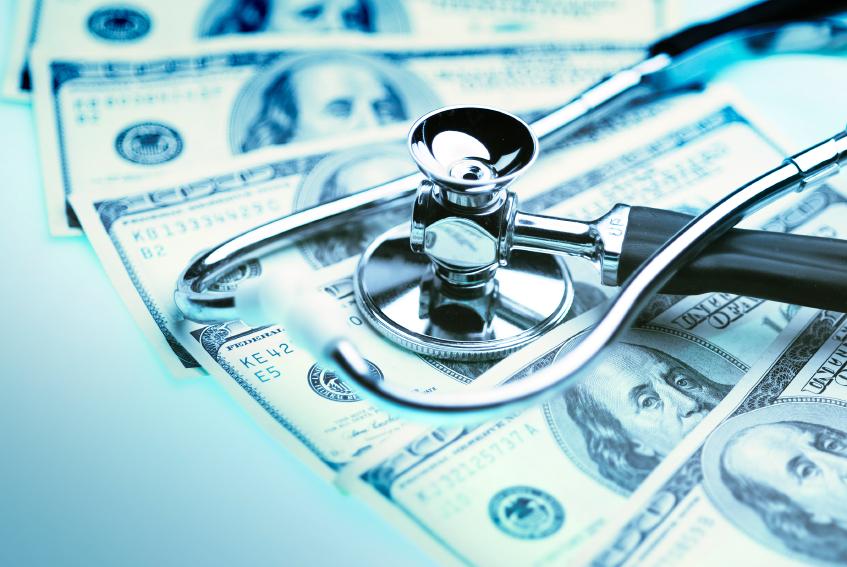money with stethoscope