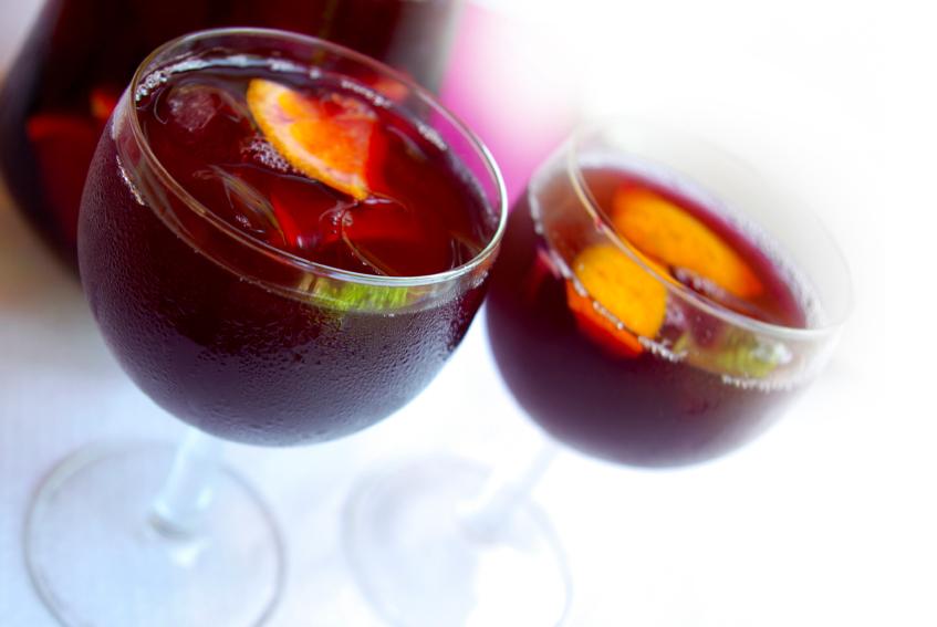 sangria, wine