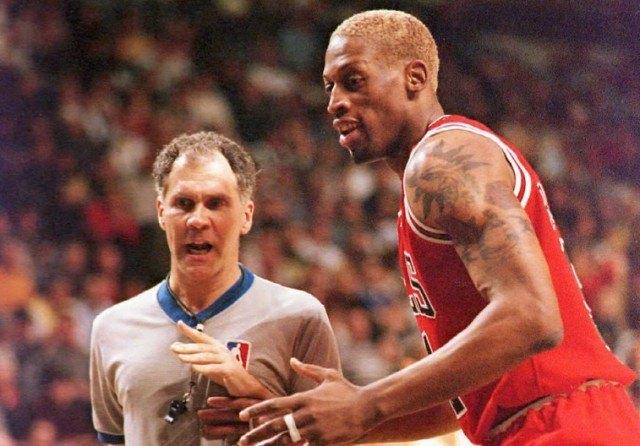 Dennis Rodman during basketball game