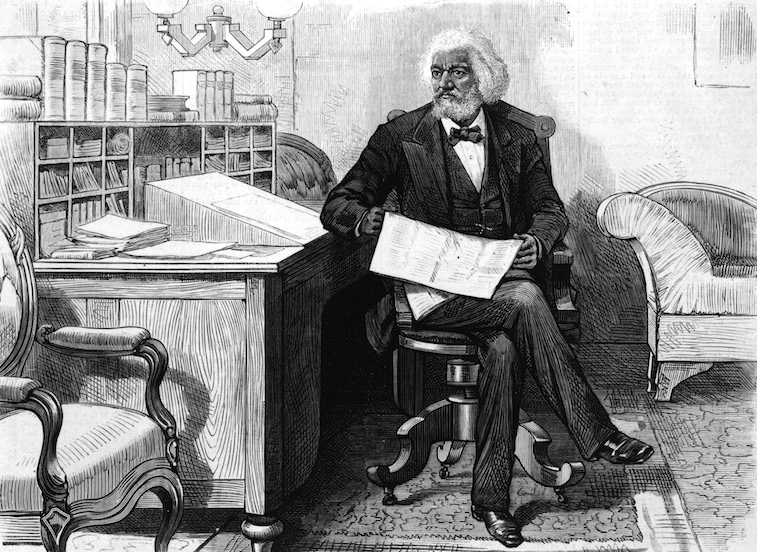 American orator, editor, author, abolitionist and former slave Frederick Douglass