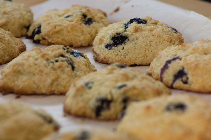 Whole wheat lemon blueberry scones