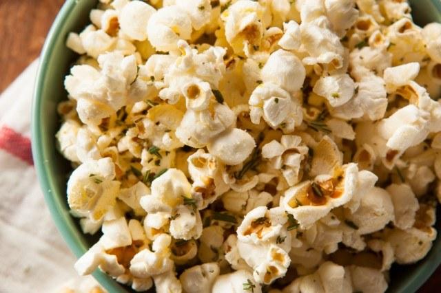 popcorn, herbs