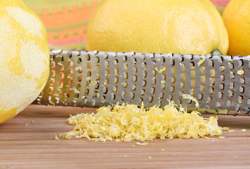 lemon, zest