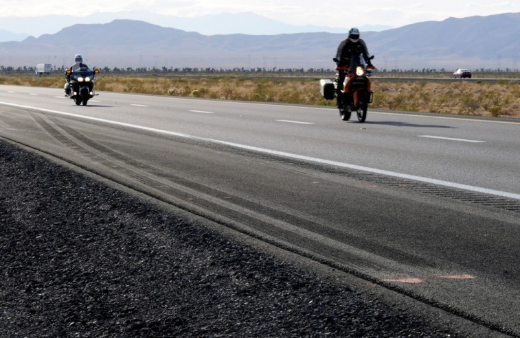 Motorcycle Riders Open Road