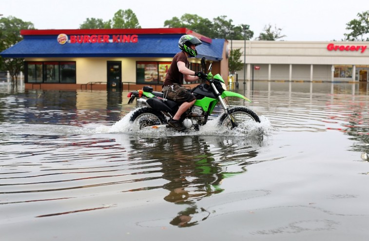 Motorcycle in a Flood