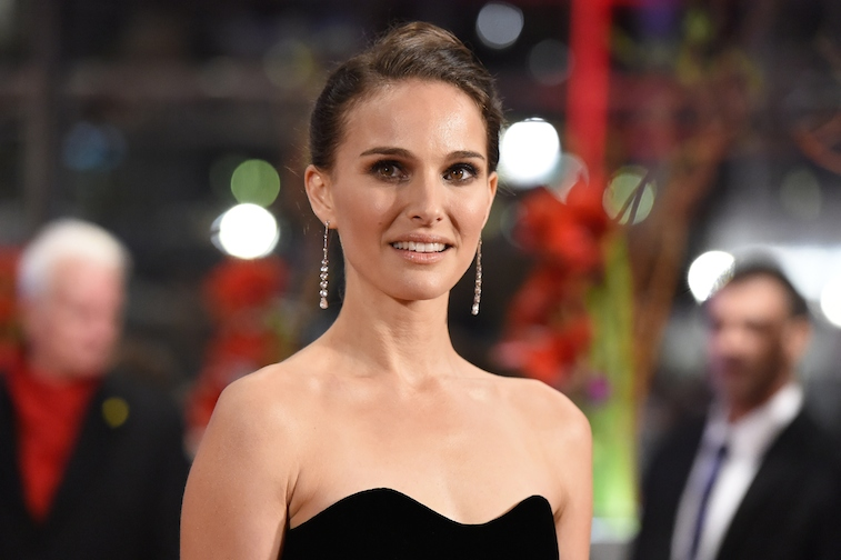 Natalie Portman posing on the red carpet.