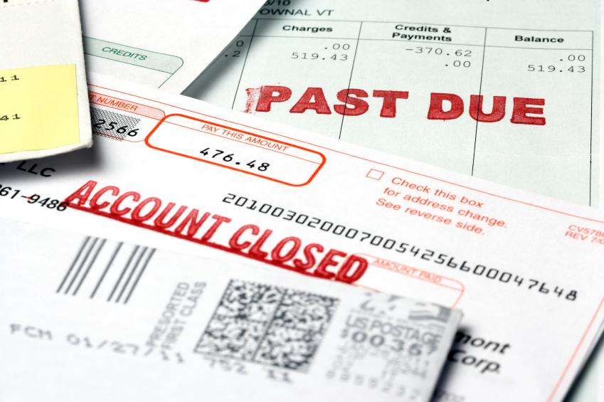 past-due bills