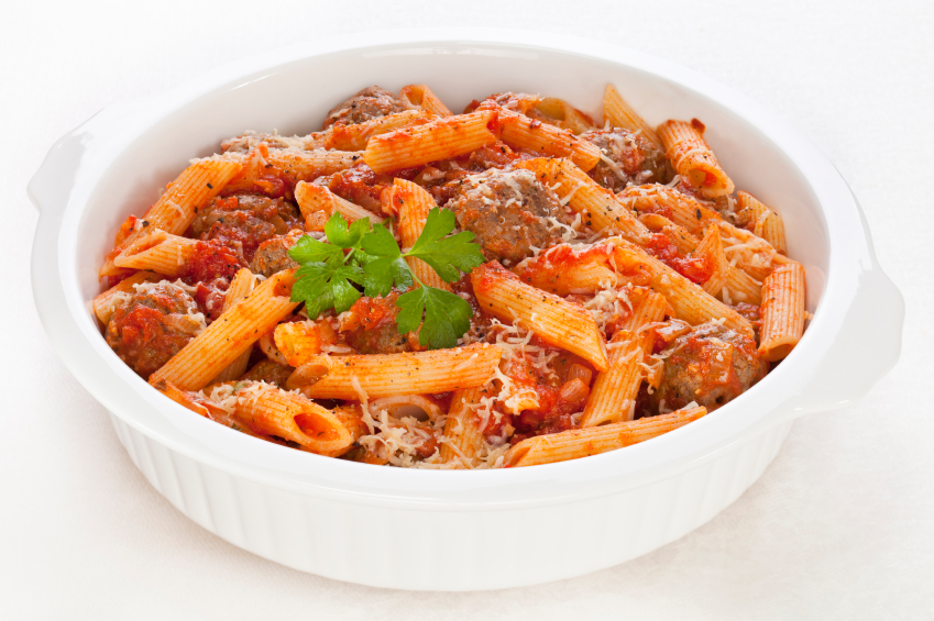 Pasta Bake with Meatballs