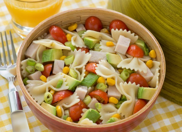 Pasta Salad Avocado Corn Tomato