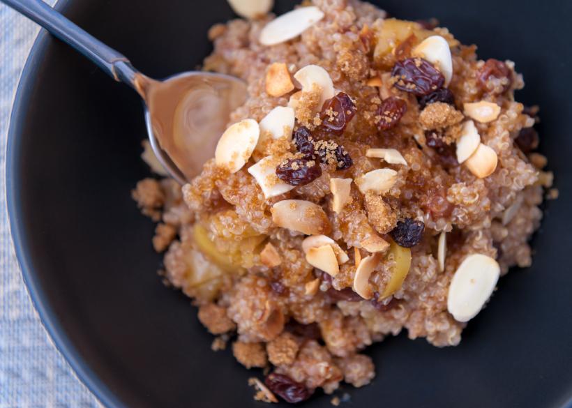 quinoa, breakfast, nuts