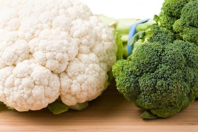 Cauliflower and Broccoli