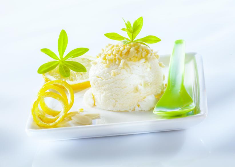 lemon sorbet, ice cream