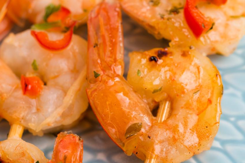 shrimp, grill