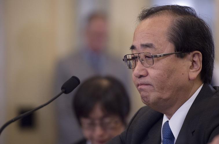 Senior VP of global quality assurance for Takata Hiroshi Shimizu tesifies before congress, 2014