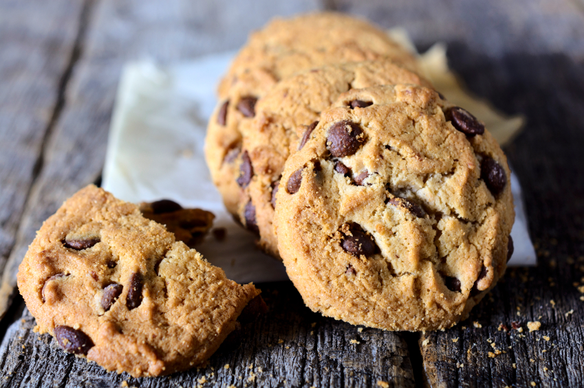 chocolate chip cookies, packaged