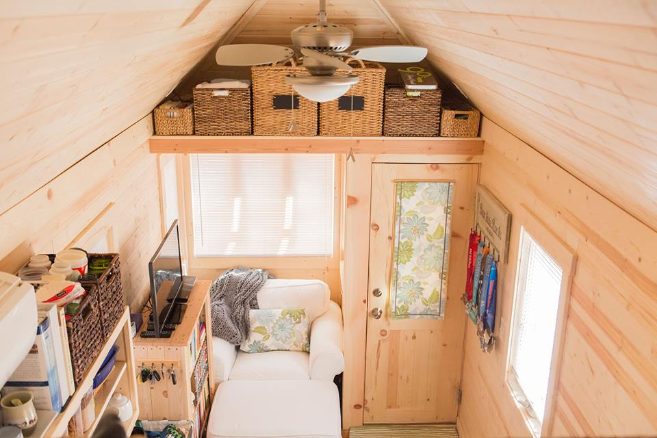 Tiny house living could you live in 200 square feet - Tumbleweed tiny house interior ...