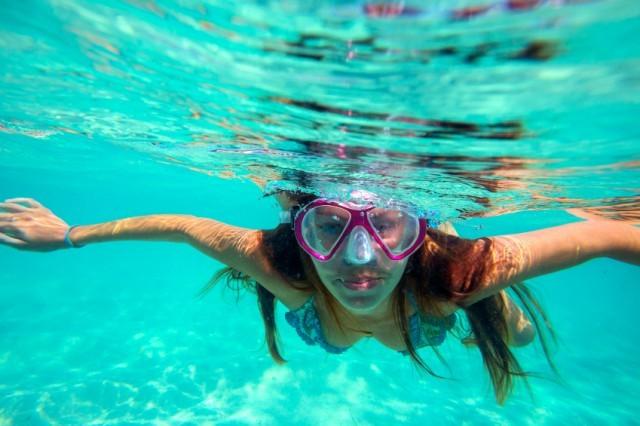 swim, snorkel