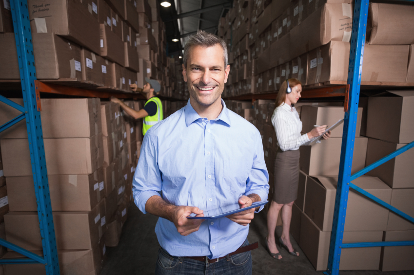 manager in a warehouse