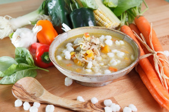 posole stew with vegetables