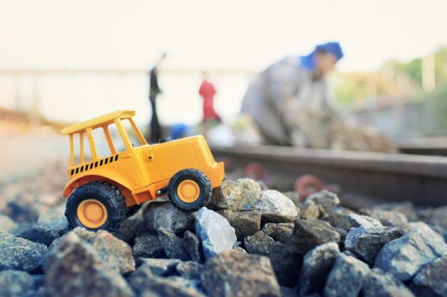 toy tractor, construction