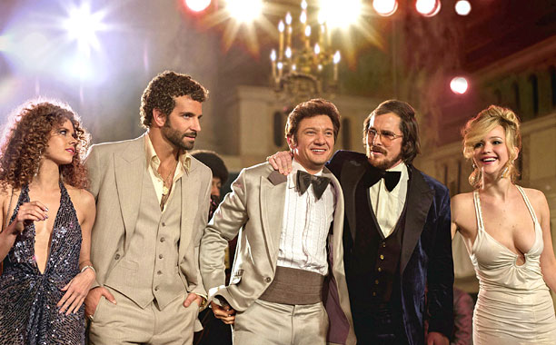 Amy Adams, Bradley Cooper, Jeremy Renner, Christian Bale and Jennifer Lawrence in 'American Hustle.'