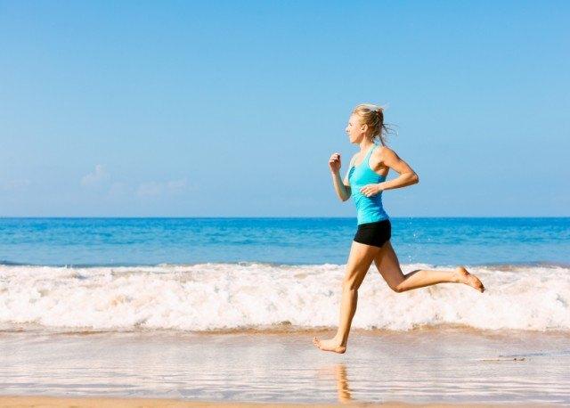 a woman exercising