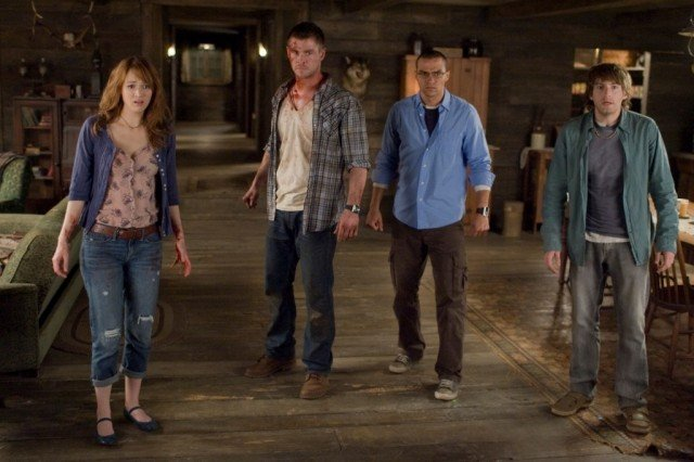 The cast of Cabin in the Woods