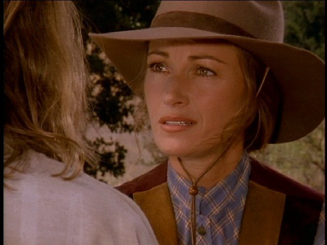 Jane Seymour as Dr. Michaela Quinn.