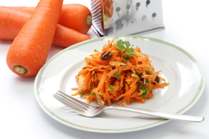 Grated Carrot And Mint Salad With Honey Lemon Vinaigrette Recipe ...