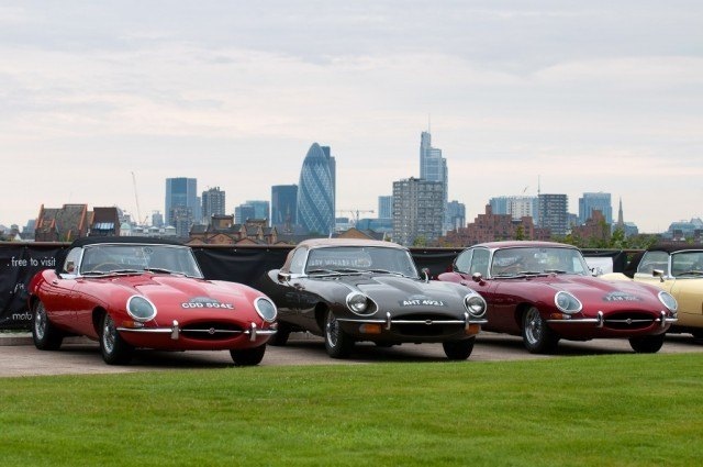 Three Jaguar E-Types