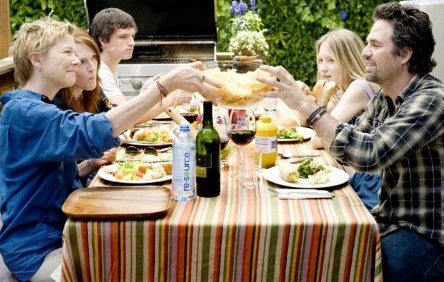 Annette Bening, Julianne Moore, Josh Hutcherson, Mia Wasikowska and Mark Ruffalo in 'The Kids are All Right.'