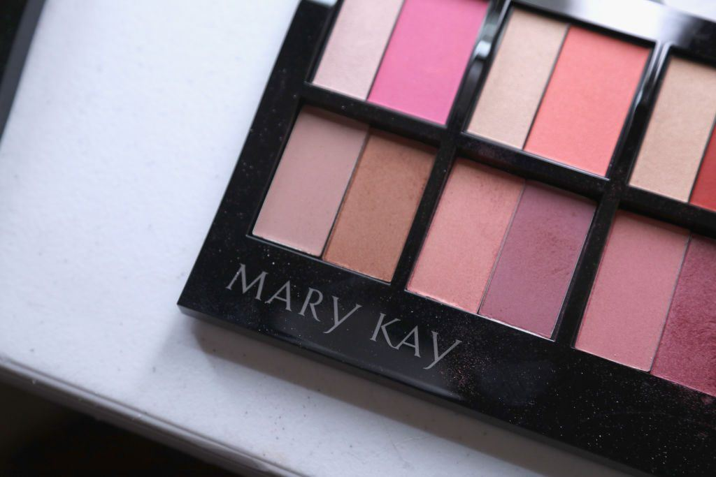 makeup from Mary Kay, a company that's been labeled a pyramid scheme