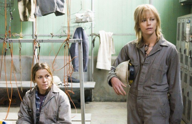 Frances McDormand and Charlize Theron in 'North Country.'