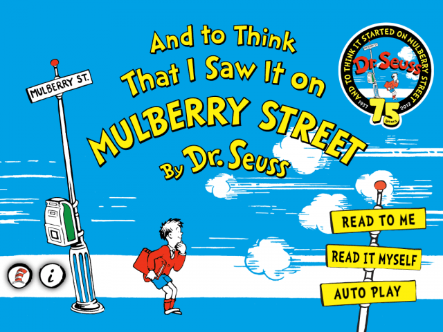 And to Think That I Saw It on Mulberry Street book cover