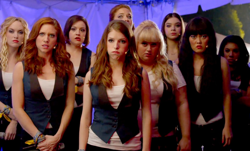 The Barden Bellas prepare for a performance in Pitch Perfect 2
