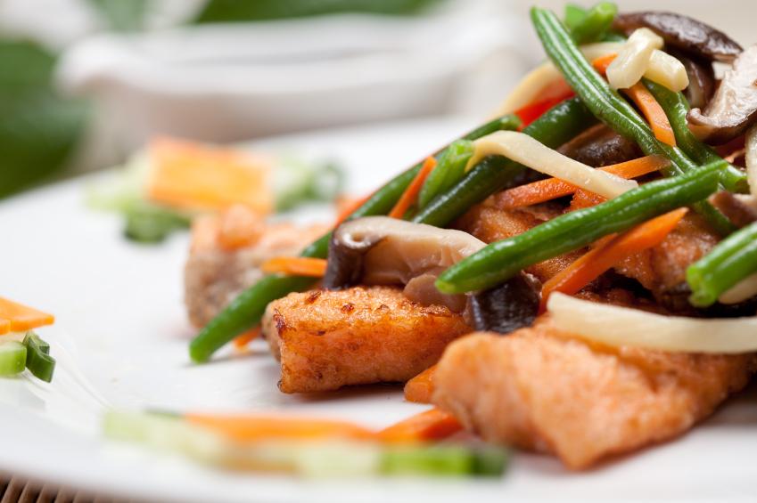 Salmon stir-fry