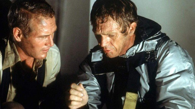 Steve McQueen and Paul Newman in The Towering Inferno
